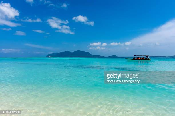 pristine view at sibuan island in tun sakaran marine park - sabah state stock pictures, royalty-free photos & images