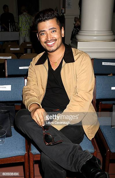 Pritan Ambroase attends Alex Vinash September 2016 New York Fashion Week at The Church of the Holy Apostles on September 15 2016 in New York City