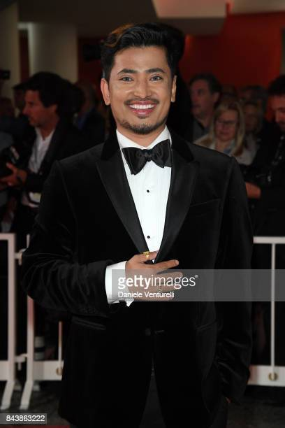 Pritan Ambroase walks the red carpet ahead of the 'Emma ' screening during the 74th Venice Film Festival at Sala Grande on September 7 2017 in Venice...