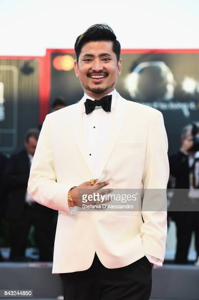 Pritan Ambroase walks the red carpet ahead of the 'mother' screening during the 74th Venice Film Festival at Sala Grande on September 5 2017 in...