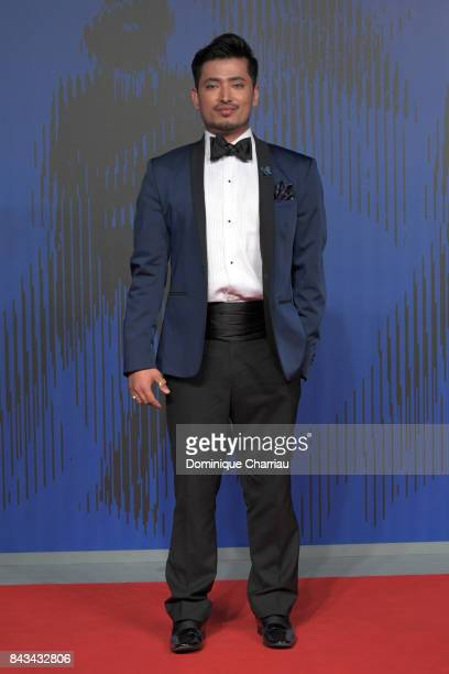 Pritan Ambroase walks the red carpet ahead of the 'Wormwood' screening during the 74th Venice Film Festival at Sala Giardino on September 6 2017 in...