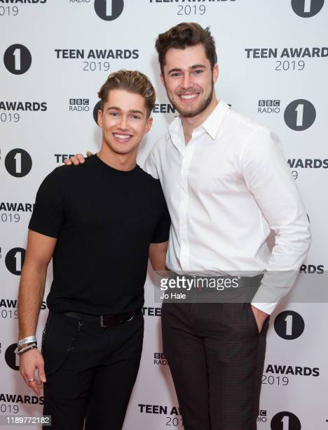Pritchard and Curtis Pritchard attend BBC Radio 1's Teen Awards 2019 on November 24 2019 in London United Kingdom