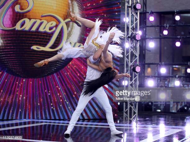 Pritchard and Nancy Xu attend the Strictly Come Dancing launch show red carpet at Television Centre on August 26 2019 in London England