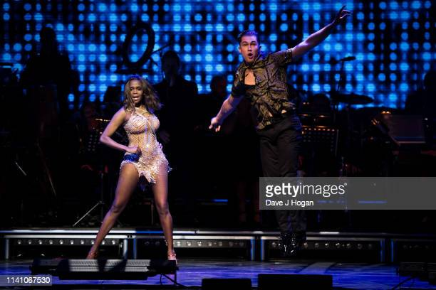 Pritchard and Oti Mabuse perform on stage during The Strictly Professionals Tour final dress rehearsal at The Lowry on May 3 2019 in Manchester...