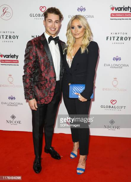 Pritchard and Saffron Barker attend the Global Gift Gala at Kimpton Fitzroy in London.