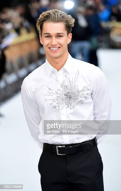 AJ Pritchard arriving for the King of Thieves World Premiere held at Vue West End Leicester Square London