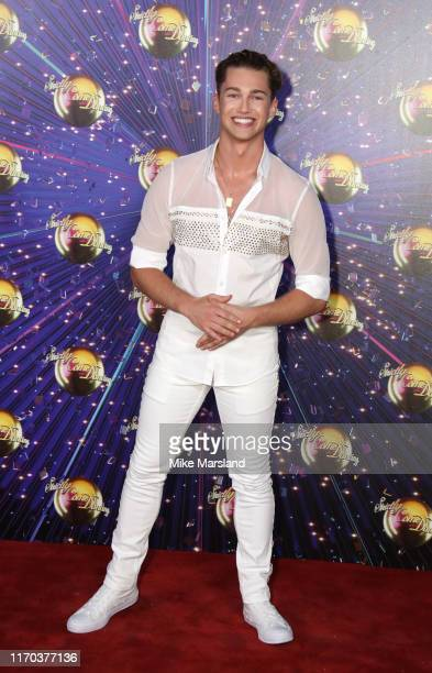 Pritchard attends the Strictly Come Dancing launch show red carpet at Television Centre on August 26 2019 in London England