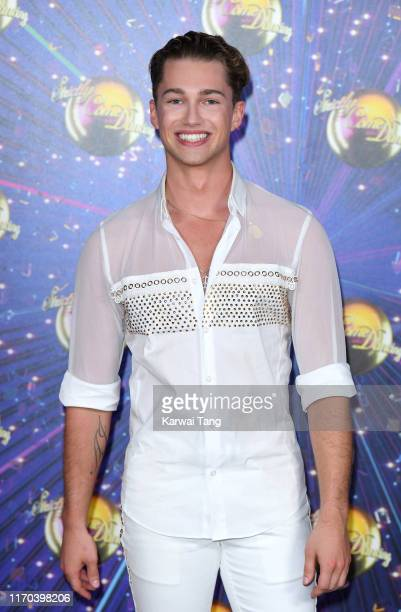 Pritchard attends the Strictly Come Dancing launch show red carpet arrivals at Television Centre on August 26 2019 in London England