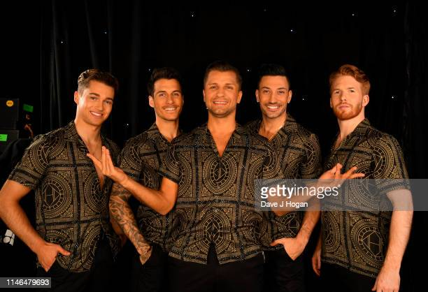 Pritchard Gorka Marquez Pasha Kovalev Giovanni Pernice and Neil Jones attend the Strictly Come Dancing The Professionals photocall at Elstree Studios...