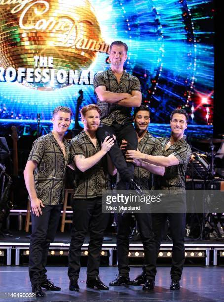 Pritchard Neil Jones Pasha Kovalev Giovanni Pernice and Gorka Marquez during the Strictly Come Dancing The Professionals photocall at Elstree Studios...