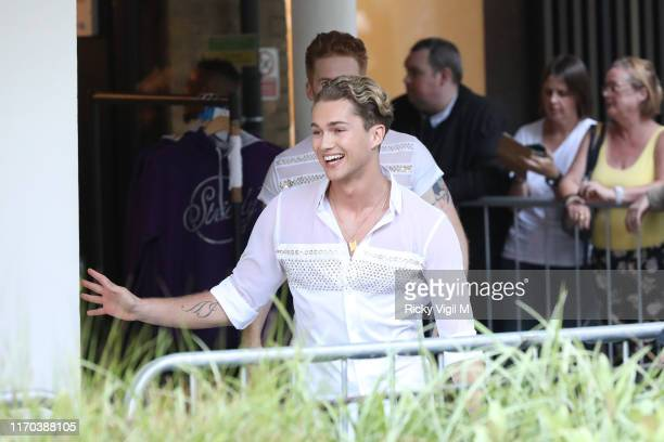 Pritchard seen at Strictly Come Dancing red carpet launch show recording at Television Centre on August 26 2019 in London England