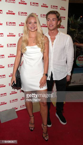 Pritchard seen attending Love Island finale The Sun party at Tropicana Beach Club on July 29 2019 in London England