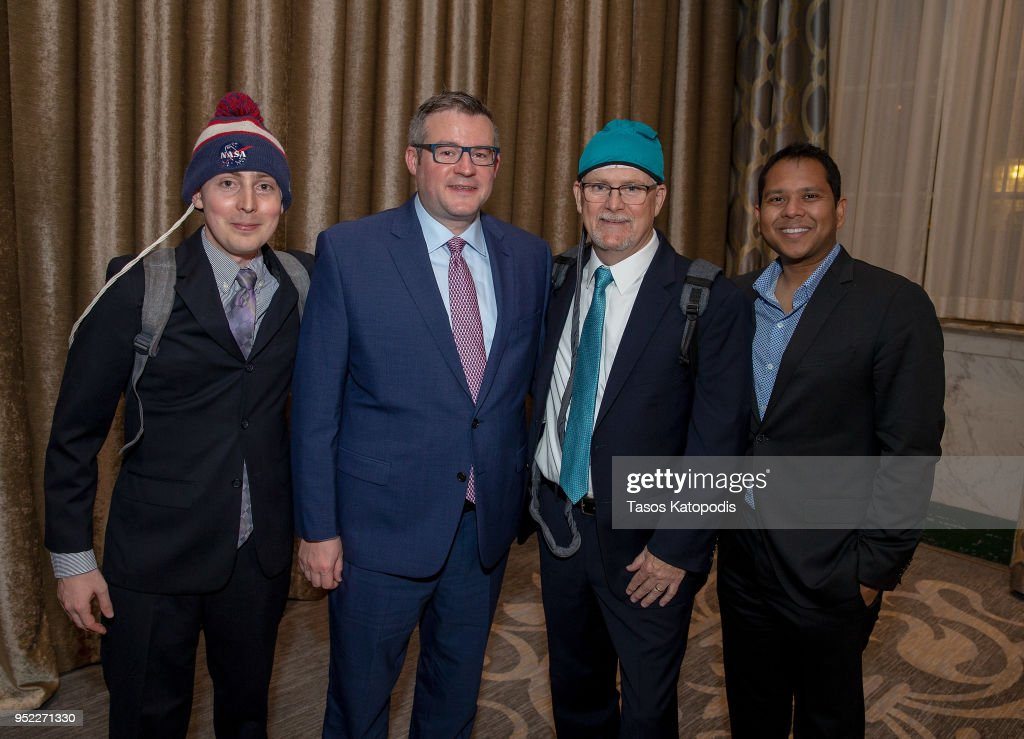 Pritesh Shah Of Novocure And Guests At The Creative Coalition S News Photo Getty Images