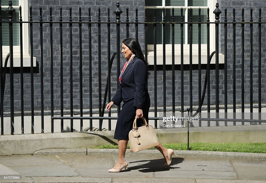Priti Patel arrives at Downing Street where she was appointed as International Development Secretary, as Prime Minister Theresa May continues to appoint her cabinet on July 14, 2016 in London, England. The UK's New Prime Minister began appointing the key Ministerial positions in her cabinet shortly after taking up residence at Number 10 Downing Street.