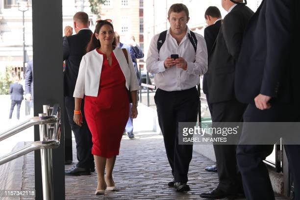 Priti Patel conservative MP attends an event to announce the winner of the Conservative Party leadership contest in central London on July 23 2019