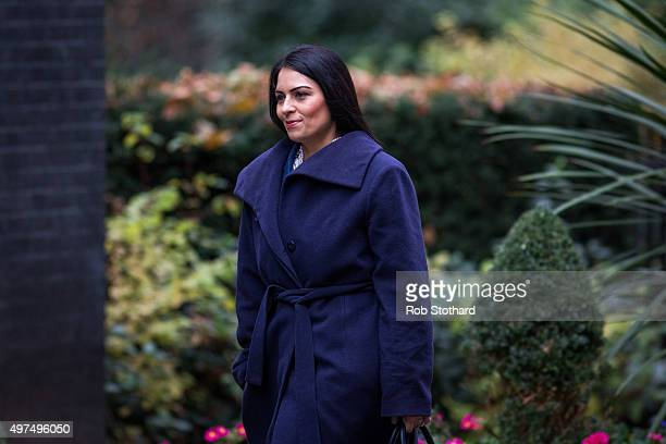 Priti Patel Minister of State for Employment arrives at Downing Street for the government's weekly cabinet meeting on November 17 2015 in London...