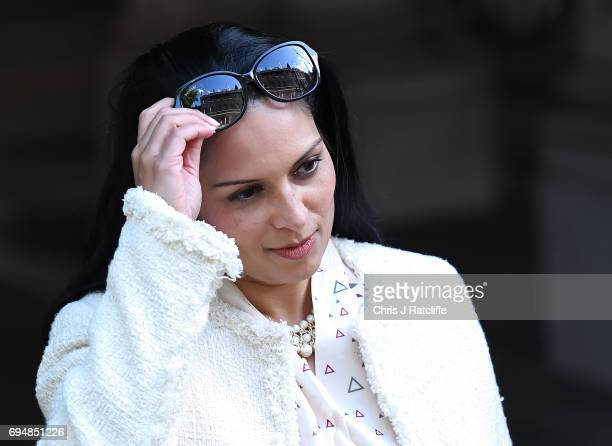 Priti Patel Secretary of State for International Development arrives at 10 Downing Street on June 11 2017 in London England Prime Minister Theresa...