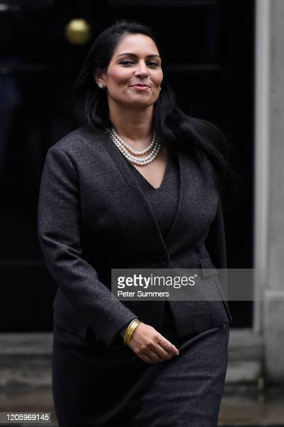 Priti Patel Secretary of State for the Home Department leaves Downing Street on February 13 2020 in London England The Prime Minister makes...