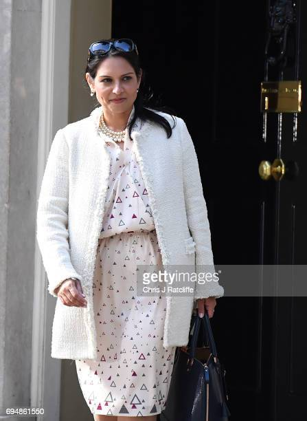 Priti Patel who remains as Secretary of State for International Development leaves 10 Downing Street on June 11 2017 in London England Prime Minister...
