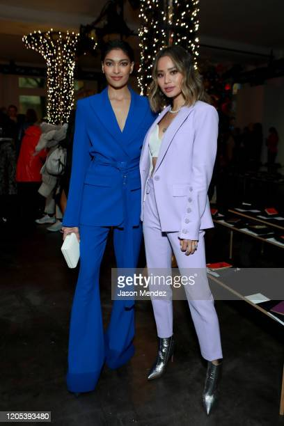 Pritika Swarup and Jamie Chung attend the Veronica Beard fashion show during February 2020 New York Fashion Week The Shows on February 10 2020 in New...