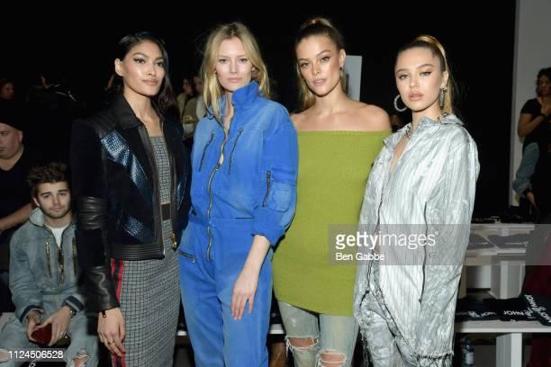 Pritika Swarup Charlott Cordes Nina Agdal and Delilah Belle Hamlin attend the John John Fashion Show during New York Fashion Week at Gallery I at...