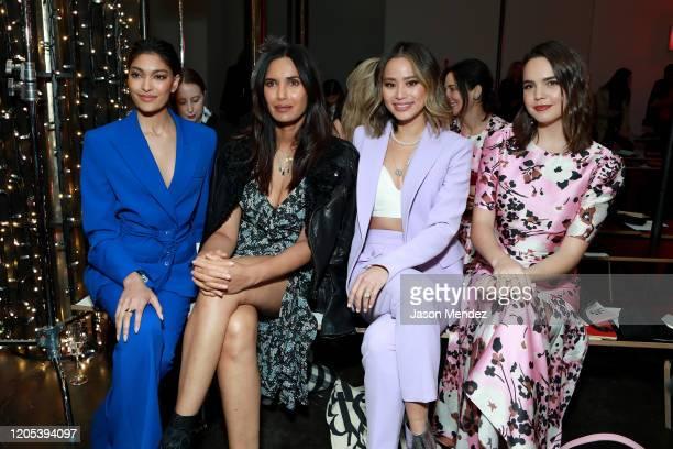 Pritika Swarup Padma Lakshmi Jamie Chung and Bailee Madison attend the Veronica Beard fashion show during February 2020 New York Fashion Week The...