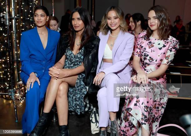 Pritika Swarup, Padma Lakshmi, Jamie Chung, and Bailee Madison attend the Veronica Beard fashion show during February 2020 - New York Fashion Week:...