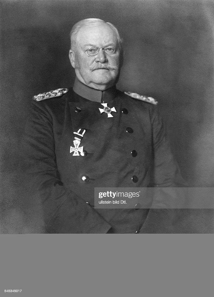 Prittwitz und Gaffron, Maximilian von - Colonel-General, Germany*27.11.1848-29.03.1917+- 1915- Photographer: Nicola PerscheidVintage property of ullstein bild : News Photo