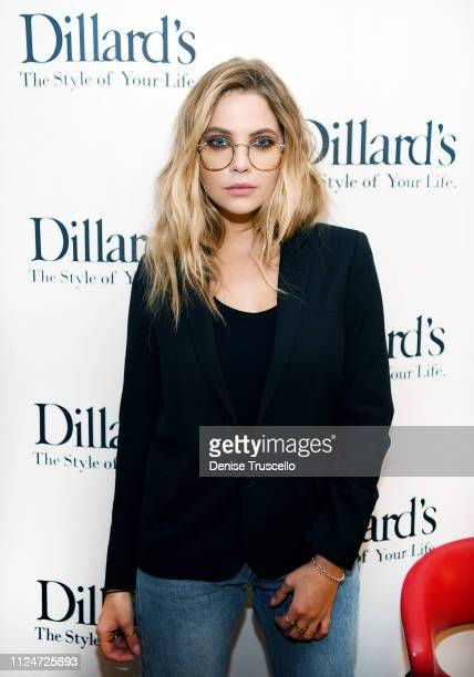Privé Revaux Eyewear partner Ashley Benson hosts the Privé Revaux Eyewear meet greet event at Dillard's Fashion Show Mall on February 12 2019 in Las...