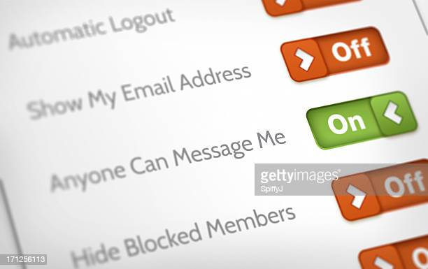 privacy and account settings - privacy stock pictures, royalty-free photos & images