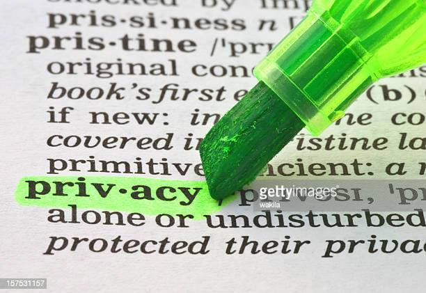 privacy definition highligted in dictionary