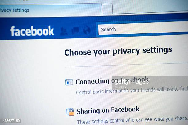 privacy on facebook.com website - private stock pictures, royalty-free photos & images