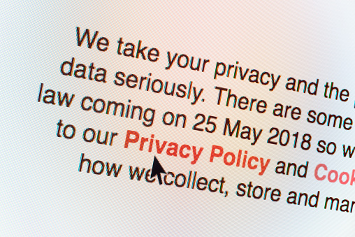 """""""Privacy Policy"""" information on computer screen - gettyimageskorea"""