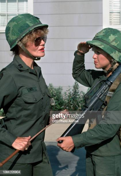 Private Benjamin a CBS television sitcom based on the movie of the same name about life in the Army From left is Eileen Brennan Lorna Patterson...