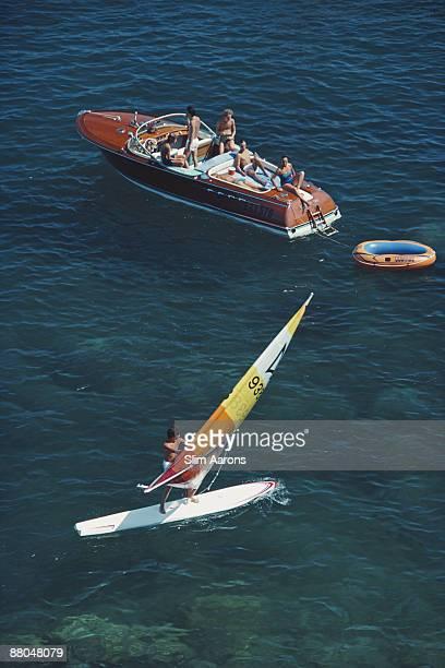 Private boats in Porto Ercole Tuscany August 1980