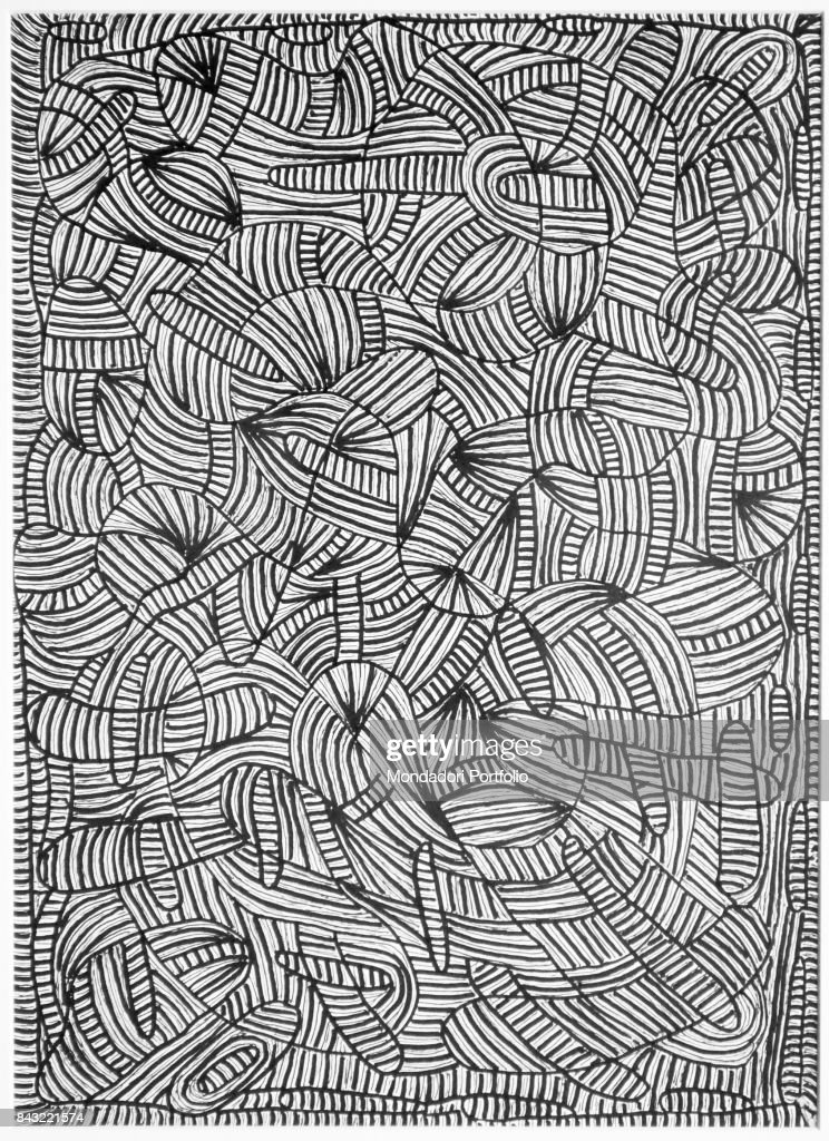 Private Collection Whole Arttwork View Abstract Drawing