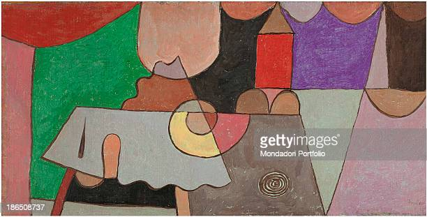 Private collection Whole artwork view Abstract work in which it is possible to recognize real object such as a house