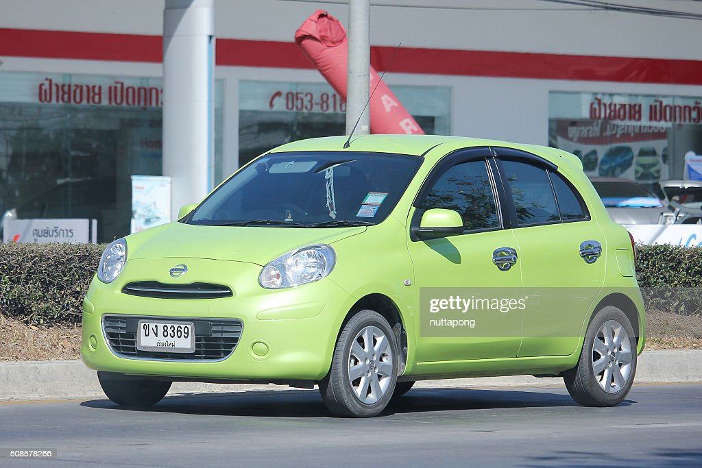 Private Eco car, Nissan March. : Stock Photo