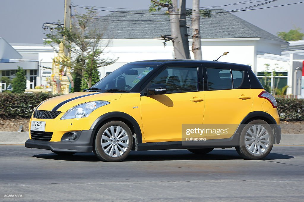 Private Eco car, Suzuki Swift : Stock Photo