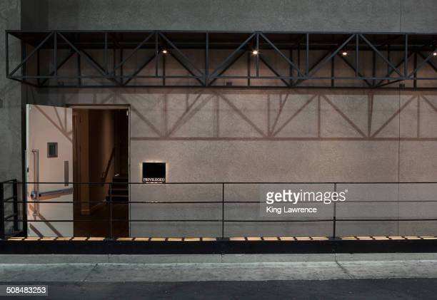 Private entrance to nightclub