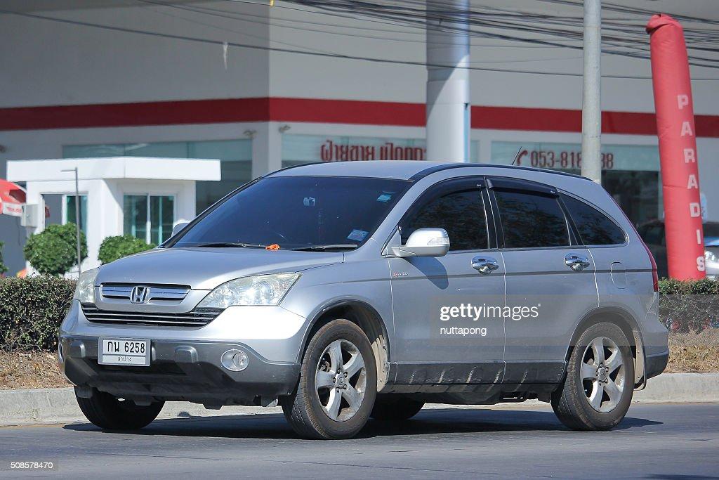 Private Honda CRV suv car. : Bildbanksbilder