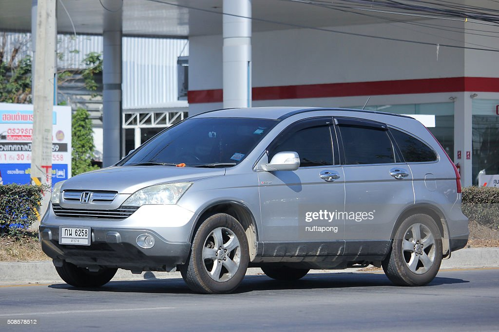 Private Honda CRV suv car. : Stock Photo