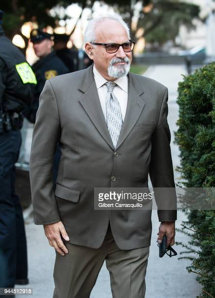 Private investigator Scott Ross leaves the Montgomery County Courthouse after the second day of Bill Cosby's retrial for sexual assault charges on...