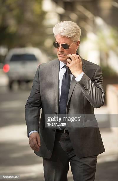 Private investigator working