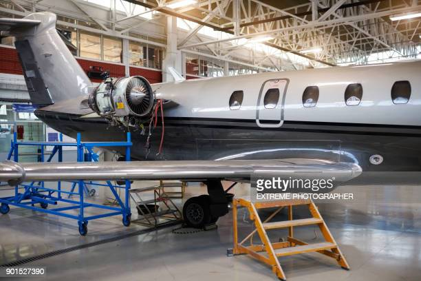 private jet airplane - airplane part stock photos and pictures