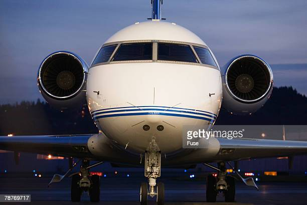 Private Jet at Dusk