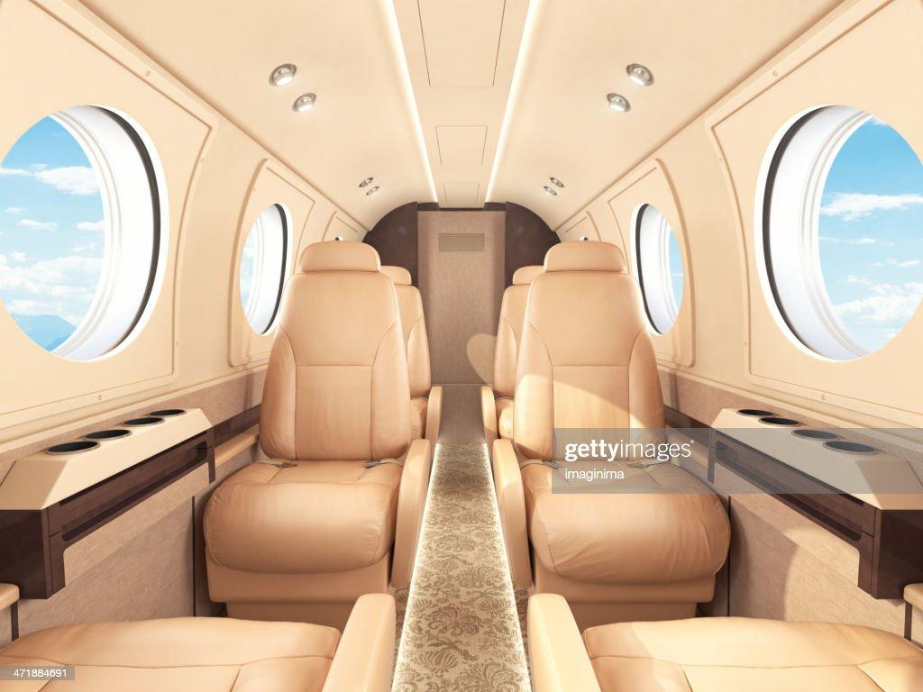 Private Jet Interior : Stock Photo