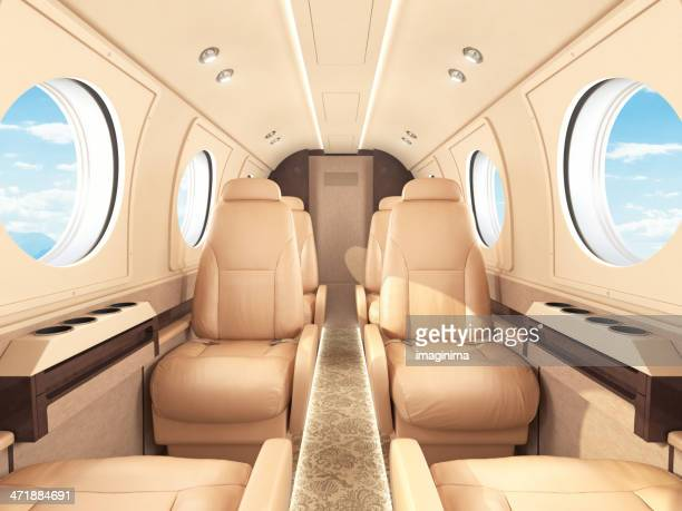 private jet interior - vehicle interior stock pictures, royalty-free photos & images