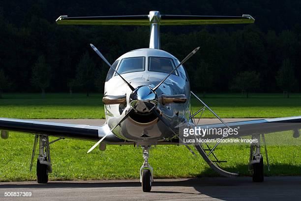 A PC-12 private jet, Mollis Air Base, Switzerland.
