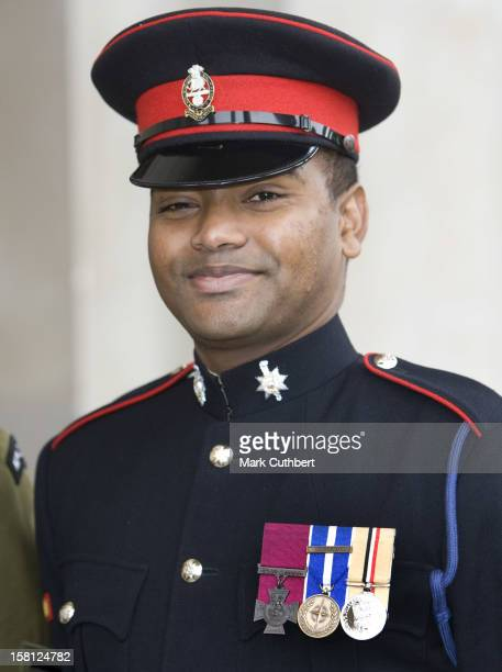 Private Johnson Beharry Holder Of A Victoria Cross Attends A Service For The Victoria Cross And George Cross Association Reunion At St...